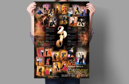 Graphic design, calendar – Harmony 2010.